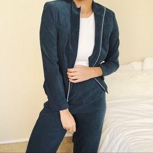 Blue Vintage High Waisted Track Suit